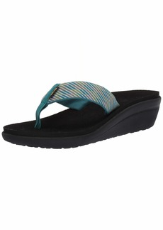 Teva Women's W VOYA Wedge Sandal Nitro deep Lake  Medium US