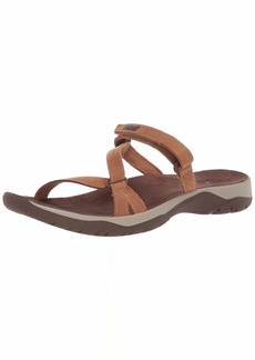 Teva Womens Women's W ELZADA Slide LEA Sandal   Medium US