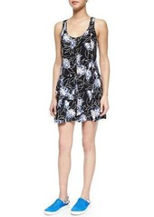 Thakoon Floral-Print Front-Zip Dress