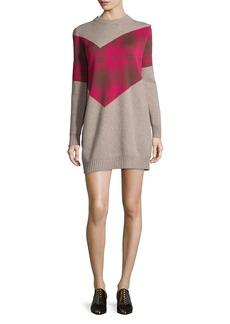 Thakoon Addition Plaid Combo Sweater Dress