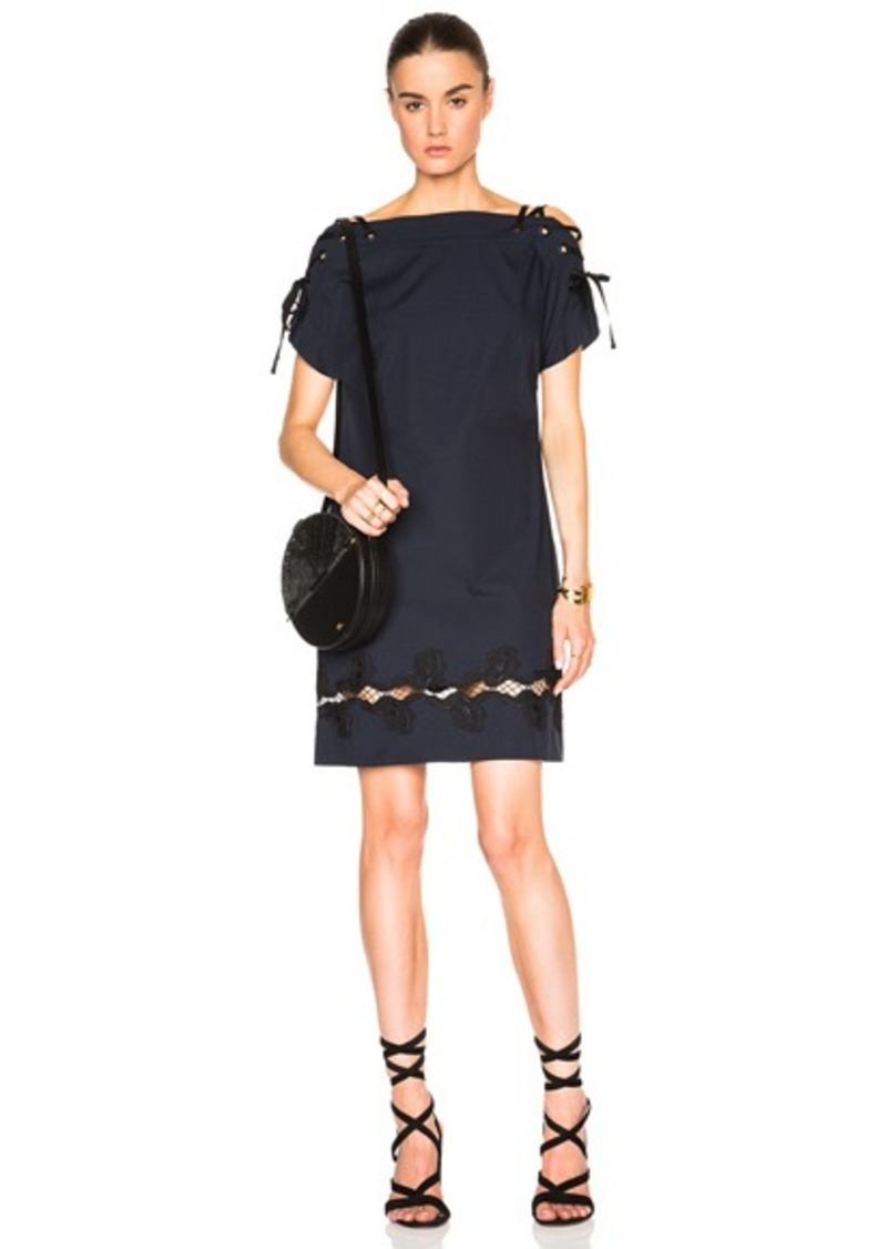 Thakoon Lace Shoulder Dress
