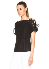 Thakoon Lace Up Sleeve Top