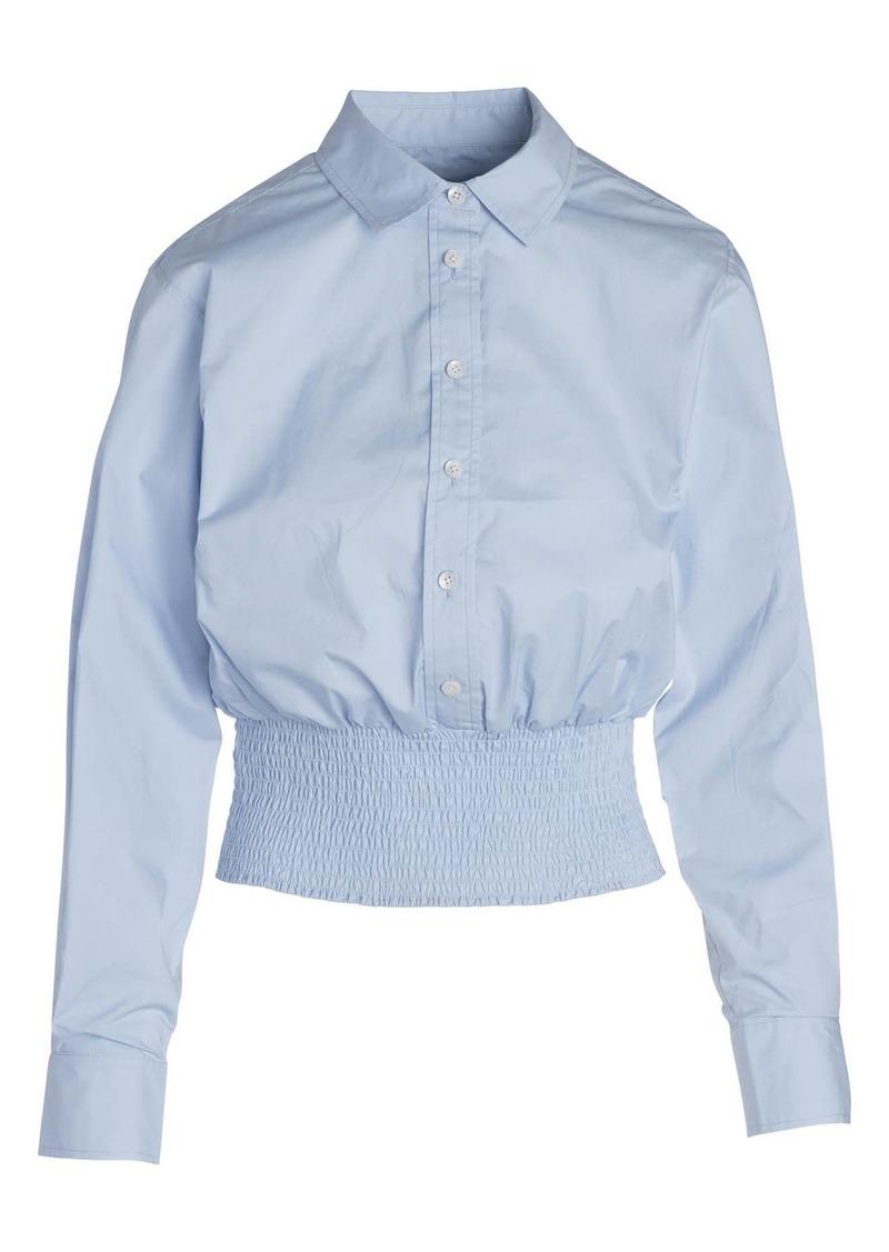Thakoon Smocked Hem Button-Up Shirt