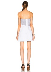 Thakoon Strapless Ruffle Mini Dress