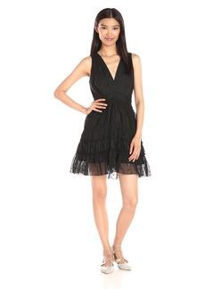 Thakoon Women's Eyelet and Lace Twist V-Neck Mini Dress