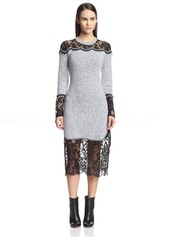Thakoon Women's Lace Combination Dress  M