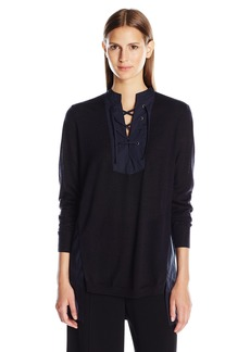 Thakoon Women's Lace Front Top  M