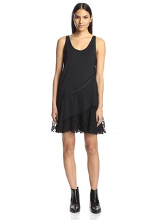 Thakoon Women's Layered Tank Dress with Lace  S