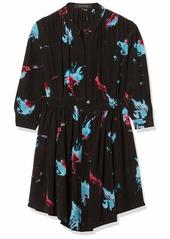Thakoon Women's Long Sleeve Floral Print Shirtdress