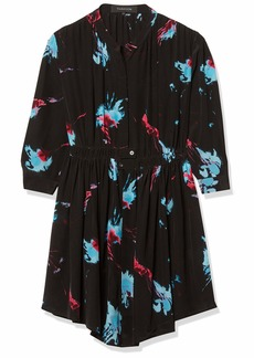 Thakoon Women's Long Sleeve Floral Print Shirtdress