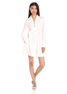 Thakoon Women's Long Sleeve Tie Front Shirtdress