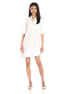 Thakoon Women's Ruffle Hem Shirt Dress