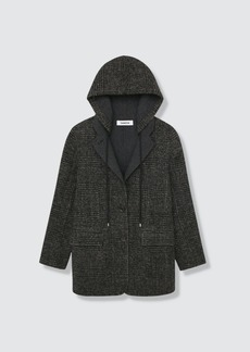 Thakoon Wool Blend Hooded Coat - M - Also in: S, XL, L
