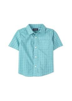 The Children's Place Dot Poplin Button-Down Shirt (Big Kids)