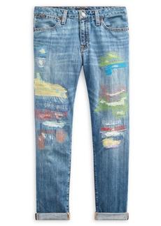 The Children's Place Little Girl's & Girl's Distressed Slim Boyfriend Jeans