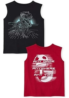 The Children's Place Graphic Muscle Tank Top 2-Pack (Little Kids/Big Kids)