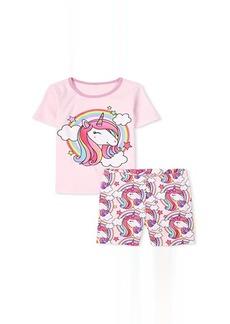 The Children's Place Rainbow Unicorn Snug Fit Cotton Pajamas (Little Kids/Big Kids)