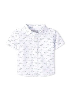 The Children's Place Shark Poplin Button-Down Shirts (Infant/Toddler)