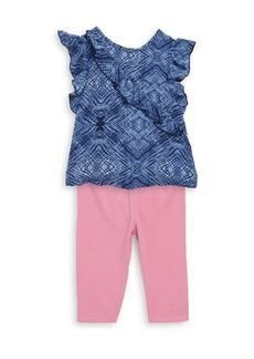 The Children's Place Baby's, Toddler's & Little Girl's Two Piece Ruffle Voile Top & Leggings Set