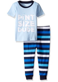 The Children's Place Baby Boys' Short Sleeve Top and Pants Pajama Set