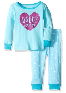 The Children's Place Baby Girls' Long Sleeve Top and Pants Pajama Set