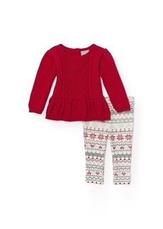 The Children's Place Baby Top and Pants Pajama Set Red 12-18 Months