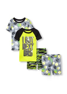 The Children's Place Big Boys' 4-Piece Pajama Set