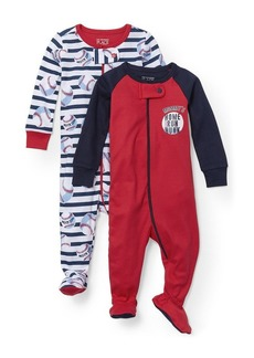 The Children's Place Big Boys' Blanket Sleepers  T