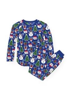 The Children's Place Boys' Big Christmas Long Sleeve Top and Pants Pajama Set  S