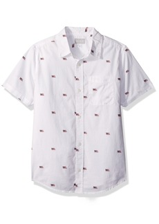 The Children's Place Big Boys' Flag Woven Shirt  S (5/6)