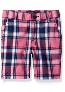The Children's Place Boys' Big Flat Front Plaid Shorts