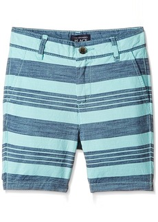 The Children's Place Big Boys' Flat Front Striped Shorts