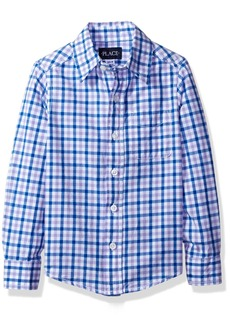 The Children's Place Big Boys' Gingham Woven Shirt  S (5/6)