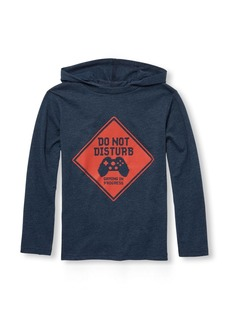 The Children's Place Big Boys' Graphic Hooded Tee Shirt  M (7/8)