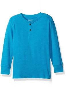 The Children's Place Big Boys' Henley Thermal Tee  S (5/6)