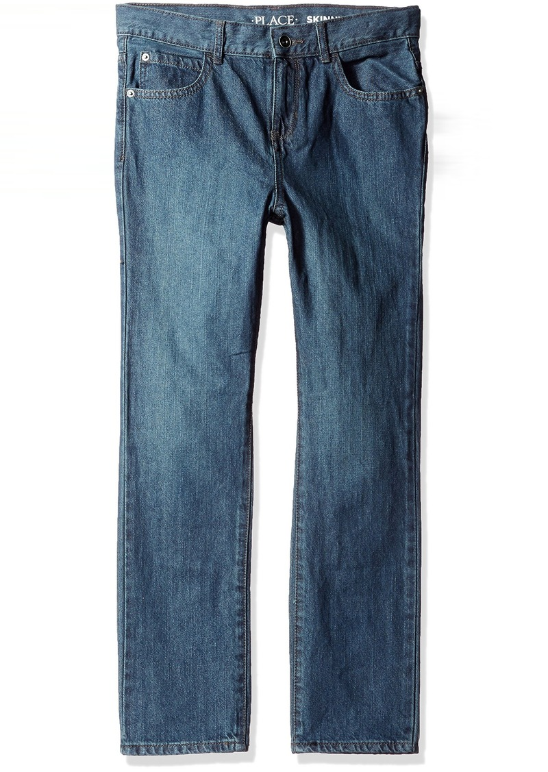 The Children's Place Big Boys' Husky Skinny Jeans