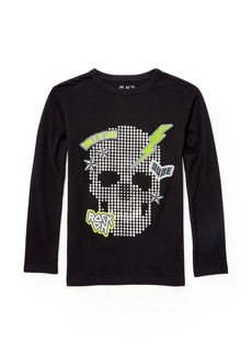 The Children's Place Big Boys' Long Sleeve Patch Skull Knit Top  XL (14)