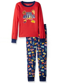The Children's Place Big Boys' Long Sleeve Top and Pants Pajama Set