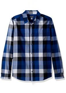 The Children's Place Big Boys' Plaid Poplin Shirt  S (5/6)