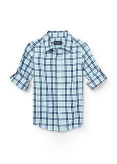 The Children's Place Big Boys' Roll Tab Woven Button Down Shirt  S (5/6)