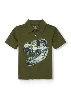 The Children's Place Big Boys' Short Sleeve Print Polo  S (5/6)
