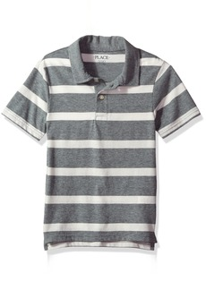 The Children's Place Boys' Big Short Sleeve Striped Polo