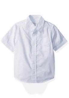 The Children's Place Boys' Big Short Sleeve Woven Shirt