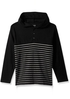 The Children's Place Big Boys' Stripe Hooded Tee  L (10/12)