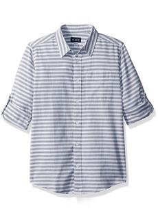 The Children's Place Boys' Big Striped Double-roll Shirt
