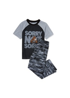 The Children's Place Big Boys' Top and Pants Pajama Set  S (5/6)