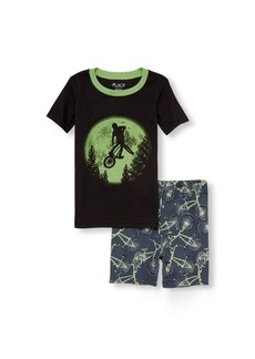The Children's Place Boys' Big Top and Shorts Pajama Set