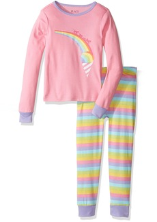 The Children's Place Big Girls' Long Sleeve Top and Pants Pajama Set  65448