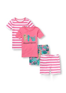 The Children's Place Girls' Big 4-Piece Pajama Set