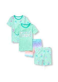 The Children's Place Big Girls' 4-Piece Pajama Set